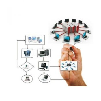 рука рисует проект сети